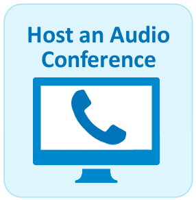 Host an Audio Conference